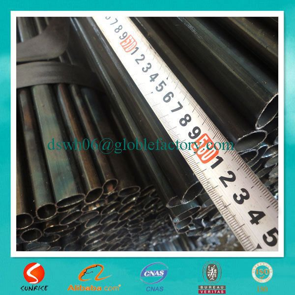 Sunrise manufacturer small size black welded oval iron tubing for Furniture,curtain