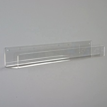 Clear Acrylic Slanted <strong>Shelf</strong> for Wall, Wall Mounted Acrylic Display <strong>Shelf</strong>