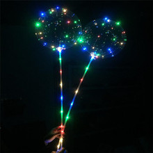 Birthday Christmas Day Wedding Party Celebrate DIY Decoration LED Colorful Light Transparent Bobo Balloon