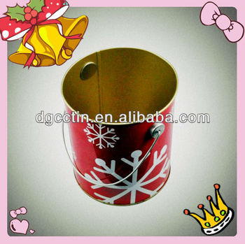 CH round beautiful printing CMYK christmas jerry can, tin bucket