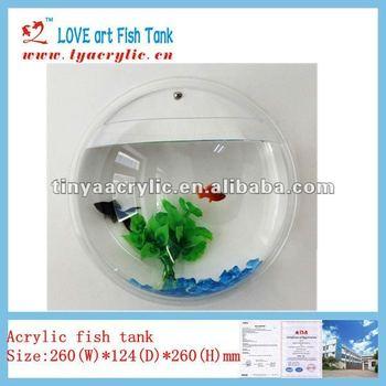 New wall hanging mounted fish tank betta bubble - Wall mounted fish aquarium ...
