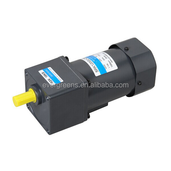 High quality 6W-200W, ratio 1:3-1:1800, small AC gear motor, low rpm gear motor