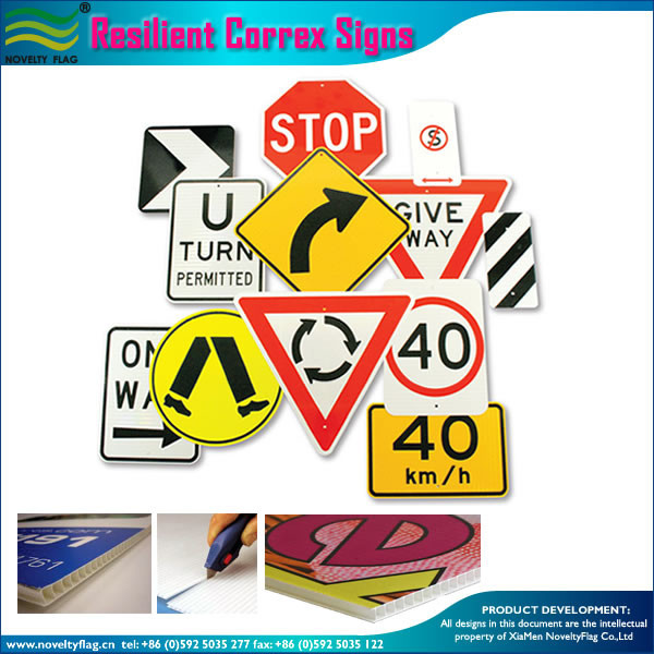 Corrugated correx plastic safety sign board
