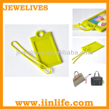 Heart shaped personalized flashing luggage tag strap