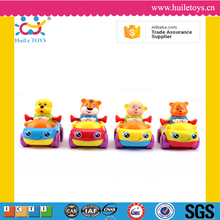 Huile 2016 kid four wheels friction animal toys cars