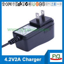 universal battery charger 3.7v 2a li-ion battery charger 4.2v 2a charger for rechargeable battery 3.7v YJP-042200