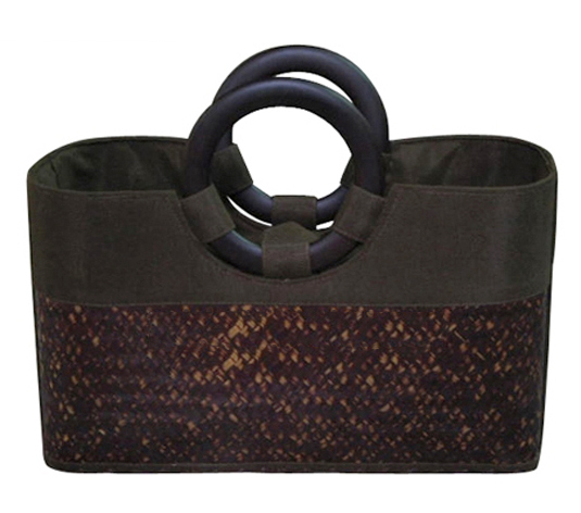 Bamboo bags with Embroidery logo -Nice product for for women fashion-100% crafts works-Made in Vietnam