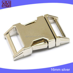 metal adjustable buckles, metal pet collar buckle,bag buckle side release for dog collar
