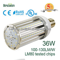 36W LED corn light UL TUV CE RoHS MC PCB+ Aluminum Heatsink