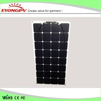 100w 18v Sunpower Semi Flexible Solar Panel for RV BOAT Marine