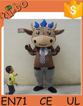 hot sale customized plush ox costume, cow mascot costume, cosplay costume for sale
