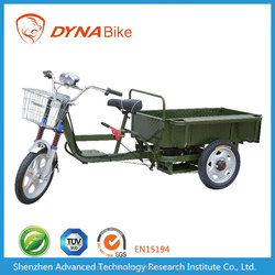 China powerful 45km/h max. speed 300kgs loading open body truck cargo three wheels electric scooter bike