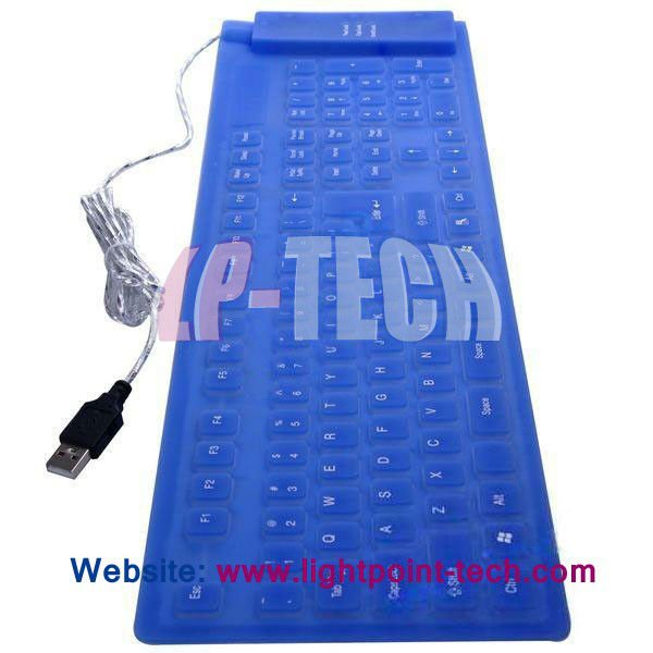 Full size 109 keys waterproof silicone computer wired keyboard