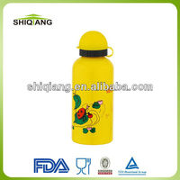 500ml promotional sport aluminium water bottles with round straw plastic