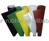 Low hardness heat resistant good resilience food grade silicon rubber sheet