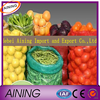 Fresh vegetables packaging plastic bag/raschel mesh bag