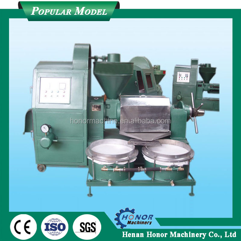 Automatic three grade spiral oil press machine for sesame seeds