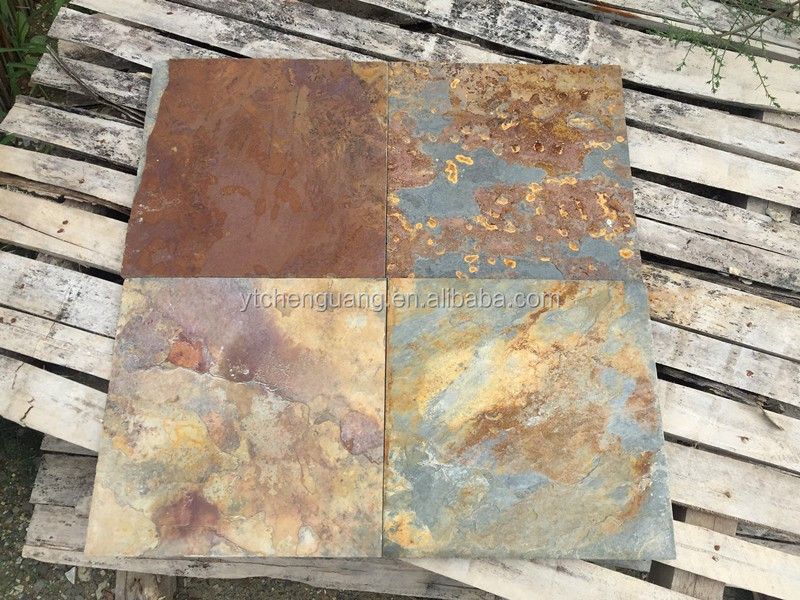 Natural Rusty Brown Slate Tiles Split Slate From Own Quarry