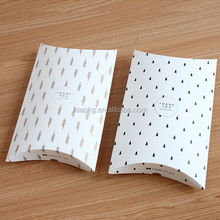 Alibaba Cheap custom white paper pillow box packaging for scarf or shirt