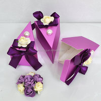 Wholesale cheap fancy paper cardboard triangle cake box