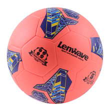 Lenwave brand deflated packing cheap soccer balls in bulk thermal bonded custom print soccer ball