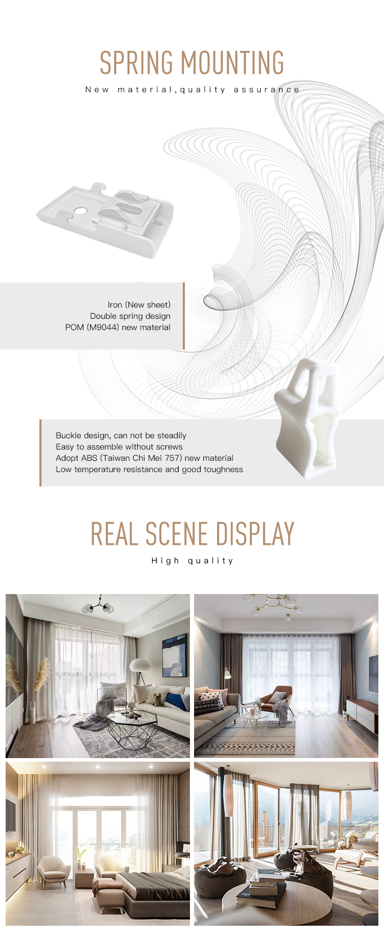 Ceiling mount hotel flexible curtain track swivel gliders plastic curved bendable curtain track for window curtains