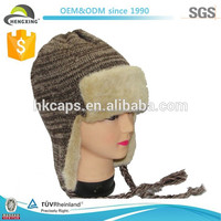 Warm Pattern Ski Adult/Teenagers Knitted Hats With Ear
