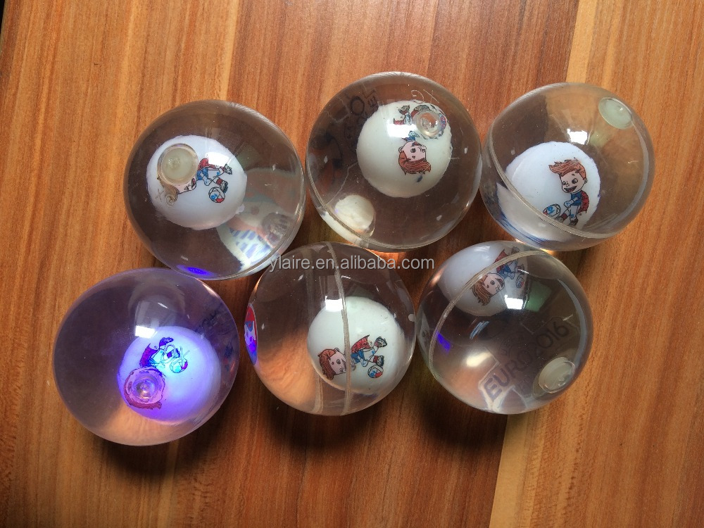 Wholesale Custom Logo TPU LED Bouncing Ball with Water and Glitter inside
