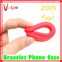 hot sale gift 7 colors multifunction silicone bracelet phone case
