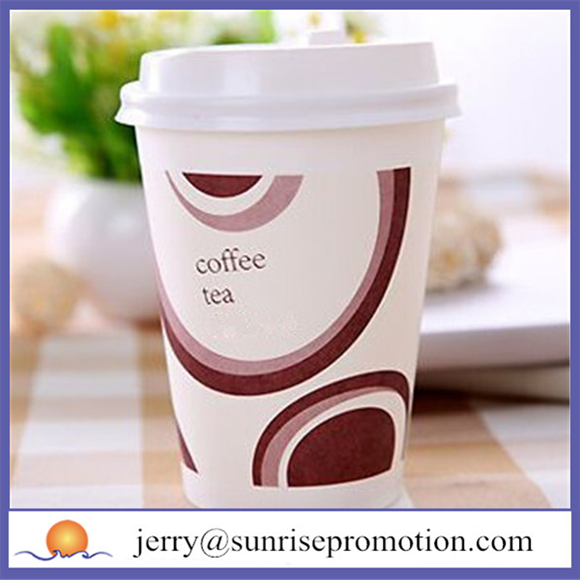 Disposable nice promotional pe coated paper cup fan