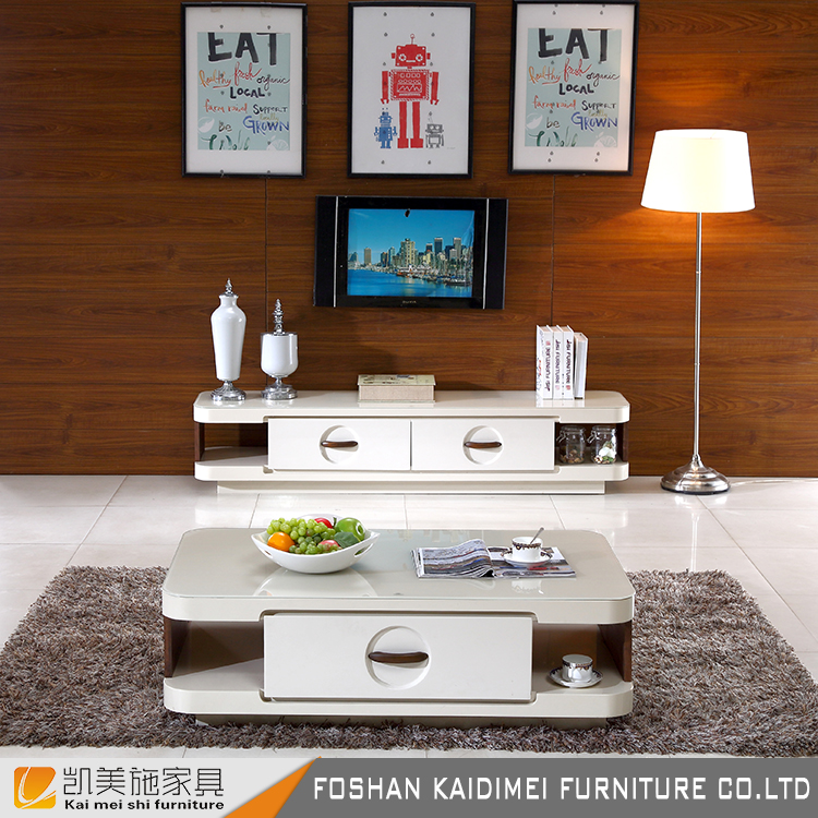 White color bedroom wooden TV stand furniture