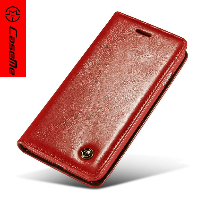 New Arriva Hot Selling Mobile Phone Accessories For Iphone 7 4.7 Inch Genuine Wallet Leather Flip Case With magnetic case