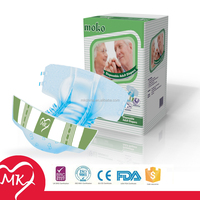 Sexy economic ultra thick incontinence products disposale free single tape adult baby diapers and plastic pants in bulk