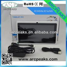 7 inch allwinner a13 tablet pc 7 cortex a7