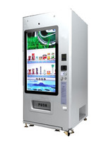 Big Touch Screen 46 inch LG Brand Vending Machine University Airport Station Vending Machine/Cold Baverage Cookies Cart