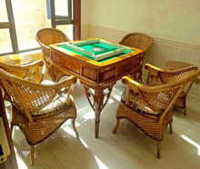 Cane-Wooden Frame Automatic Mahjong Tables