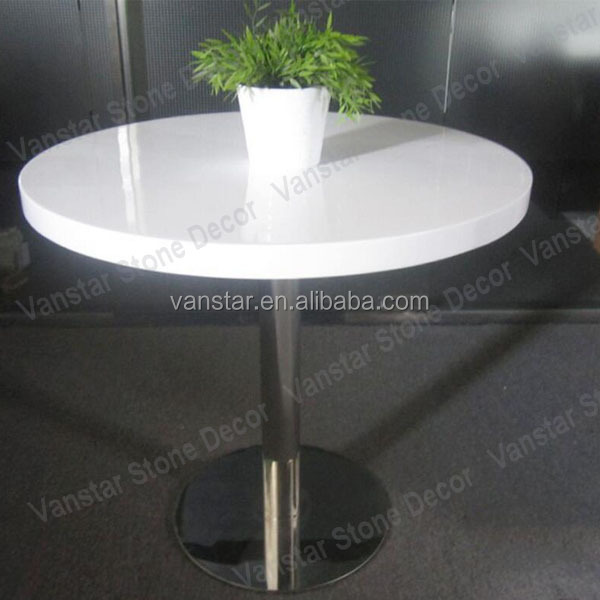 Hot Selling Solid Surface Quartz Stone Round Dining Table Top
