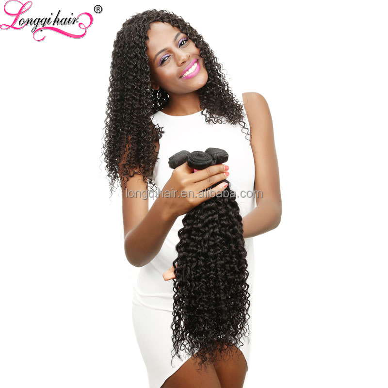 Good Feedback Virgin Brazilian Hair Jreey Curl Crochet Braids With Human Hair Extension
