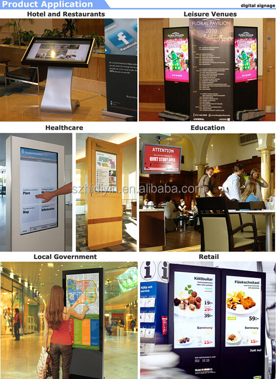 Indoor 22-inch wall mounted advertising digital signage display