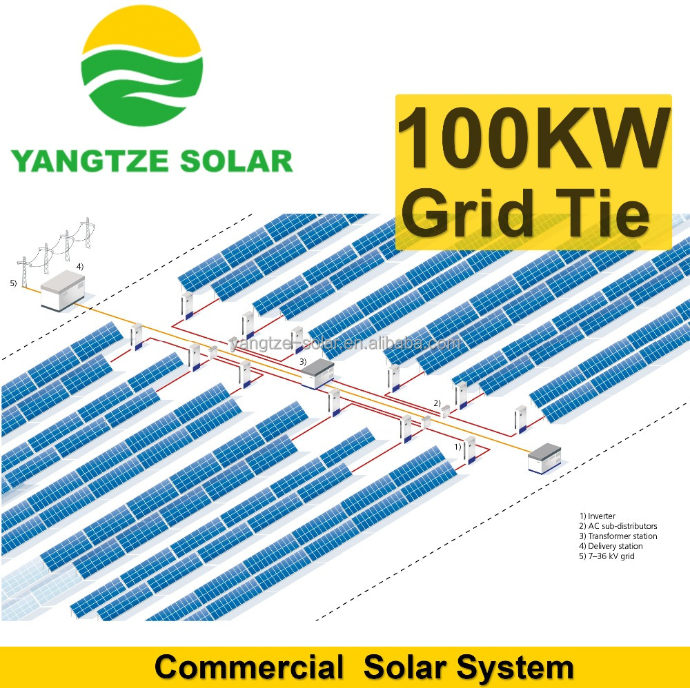 free shipping 100kw industrial solar power systems