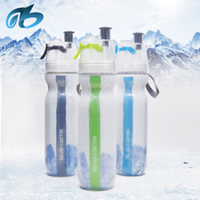 Outdoor sports protable drinking 20oz 0.6l cooling mist spray drinking water bottle joyshaker for kids students
