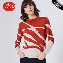 Wholesale sherpa fleece pullover design jacquard knit of hand made sweaters