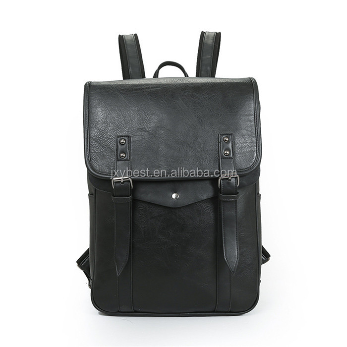 Custom gift manufacturer travelling leather laptop school backpack