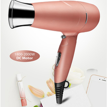 2000W Blow Dryer Ionic Ceramic Travel Mini Hair Dryer with Styling Concentrator Nozzle