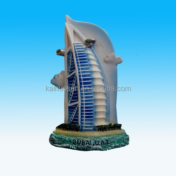 3D dubai tower polyresin fridge magnet souvenir