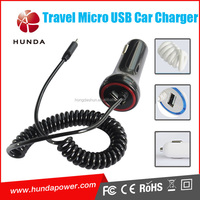 CE FCC RoHS Passed Smart 24w Micro USB Car Charger 4.8a for Travel