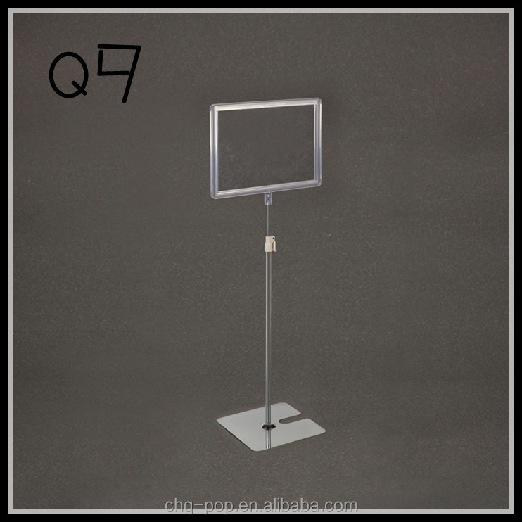 Metal Display Stand Plastic Frame Holder/Retail Displays Stand (Q9)