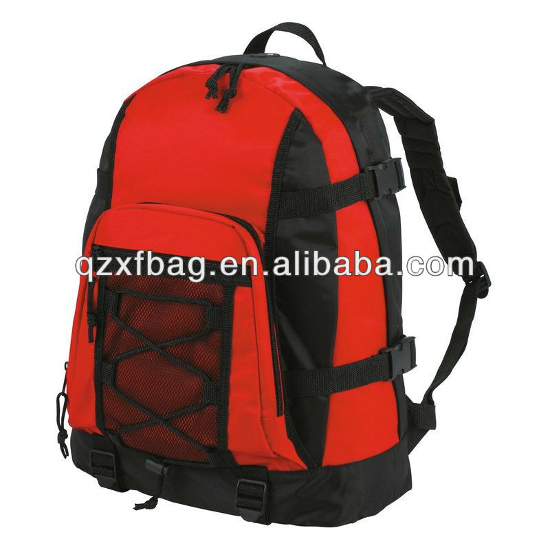 latest leisure polyester red travel backpack