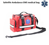 waterproof large capacity red color empty nylon emergency Ambulance EMS medical bag first aid bag with belt