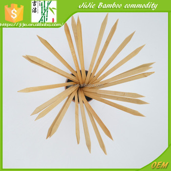 Bamboo 9*350mm Disposable Wooden Flat bamboo stick